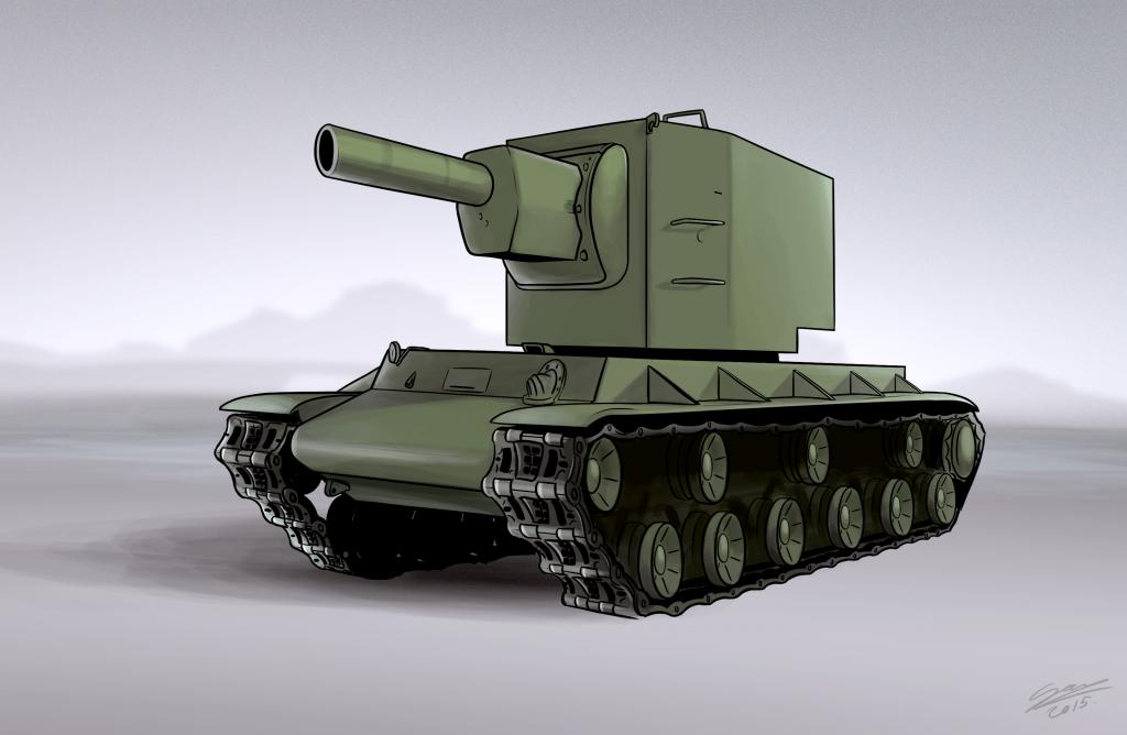KV2 Tank - Vehicle Illustration